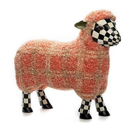 Tartan lamb pink