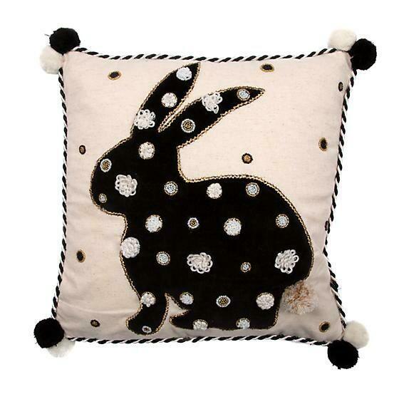 Pompom bunny pillow