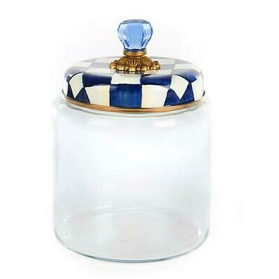 Royal check kitchen canister large