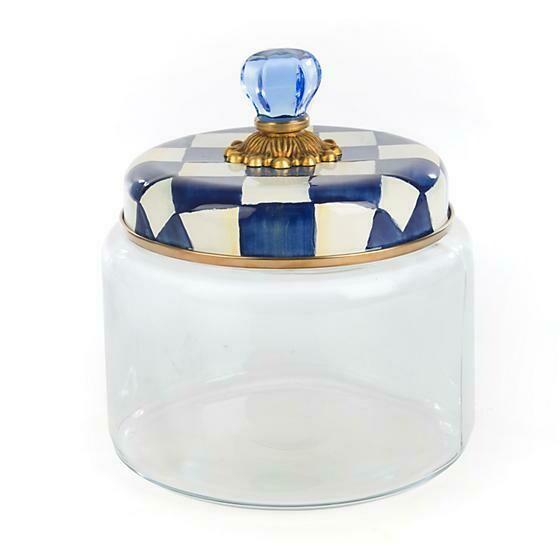 Royal check kitchen canister medium