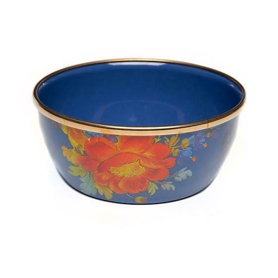 Flower market pinch bowl lapis