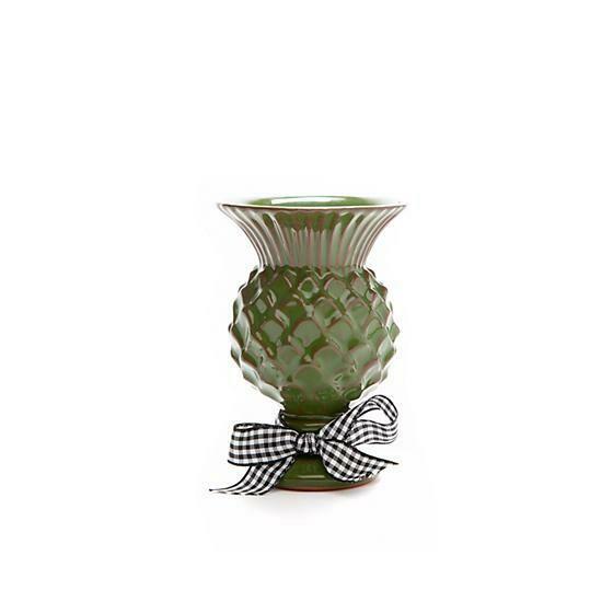 Mini thistle vase grass green