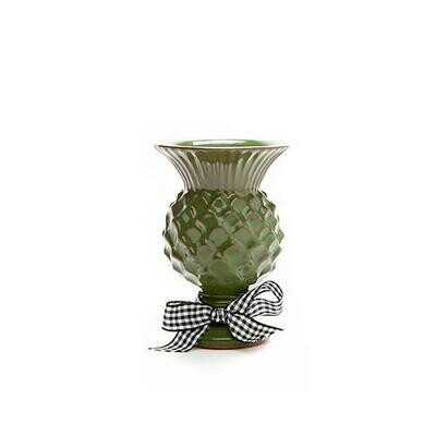 Mini thistle vase grass green