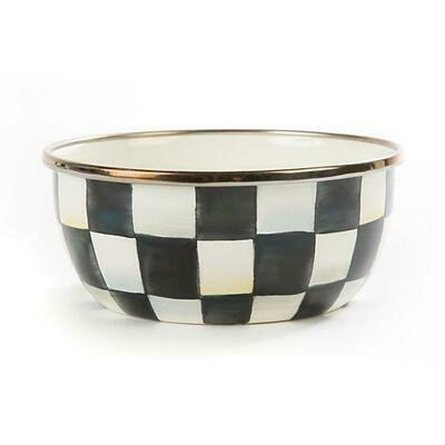 CC enamel pinch bowl