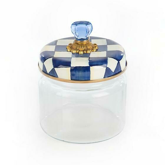 Royal check kitchen canister small