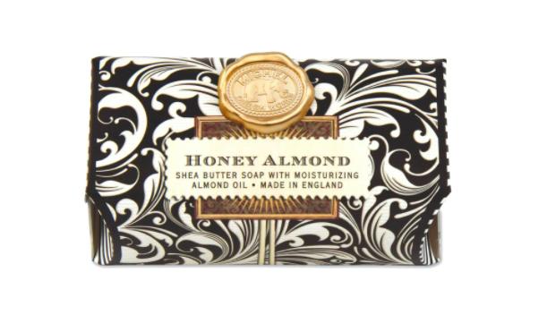 Bath soap bar honey almond