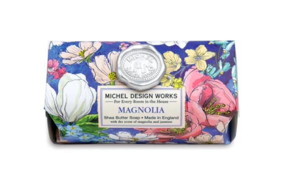 Bath soap bar magnolia