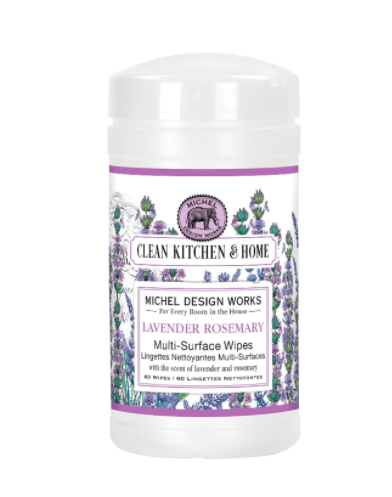 Multi surface wipes lavender rosemary