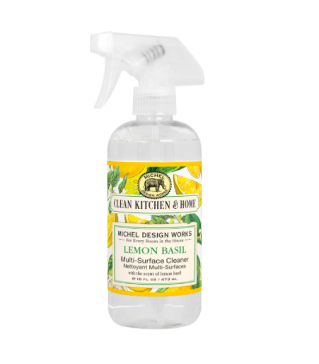 Multi surface cleaner lemon basil