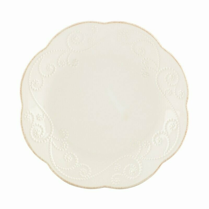 French perle salad/dessert plate white