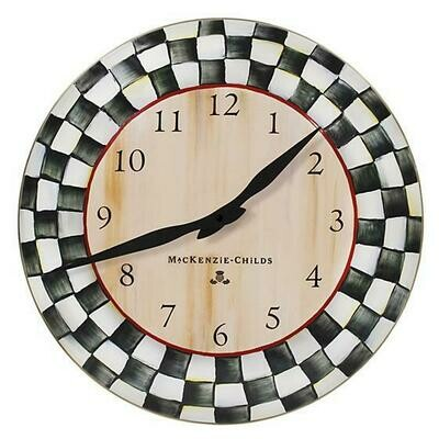 CC enamel wall clock