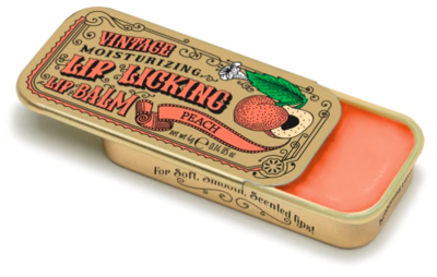 Lip licking peach lip balm