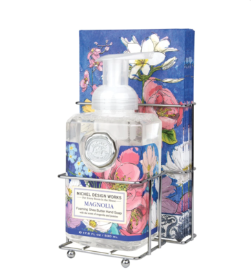 Foaming soap and napkin set magnolia