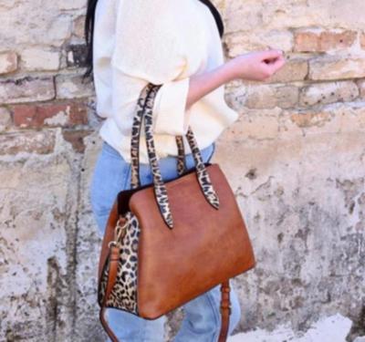 Baddeley brown leopard print tote with wallet