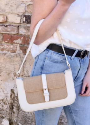 Aretha Ivory Shoulder Bag