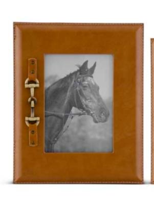 Gold horse bit frame large