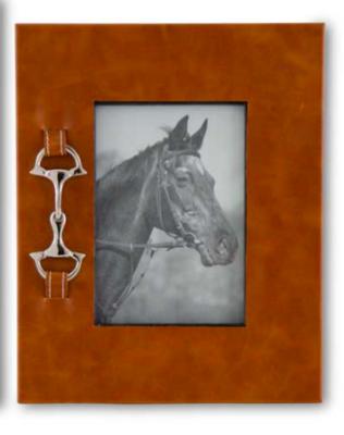 Silver horse bit frame medium