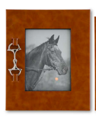 Silver horse bit frame large
