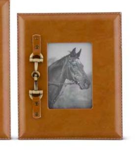 Gold Horse Bit Frame Small