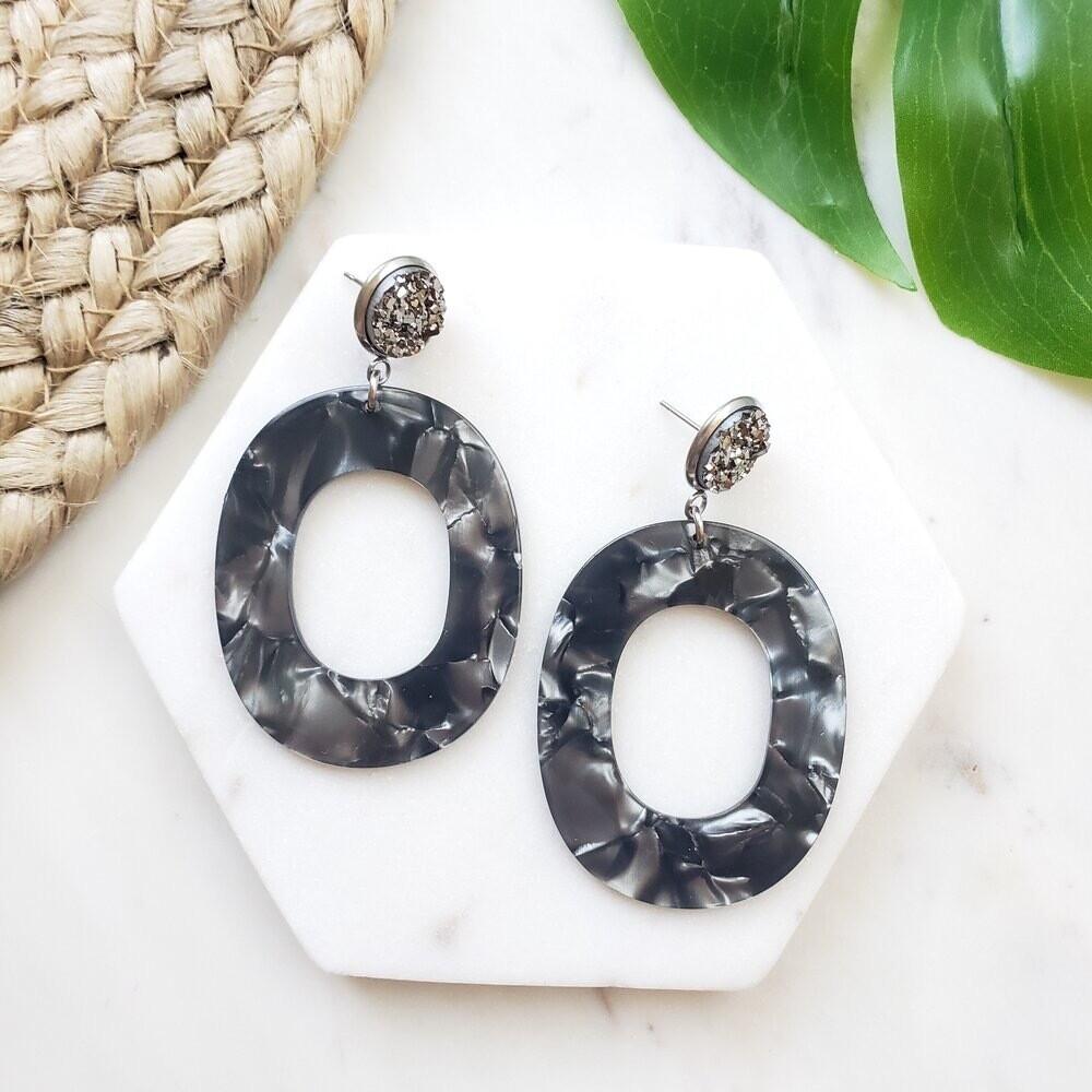 Sloan earrings gunmetal