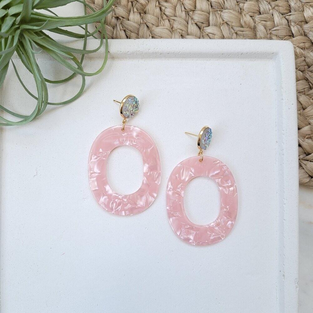 Sloan earrings blush