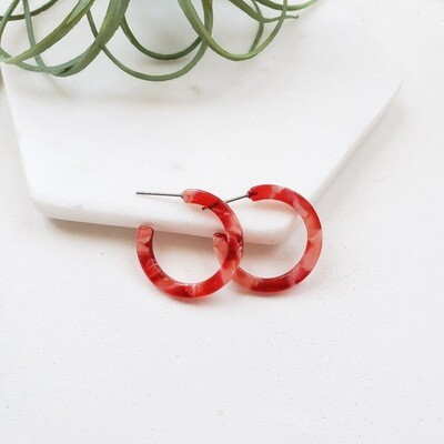 Cam mini hoops red