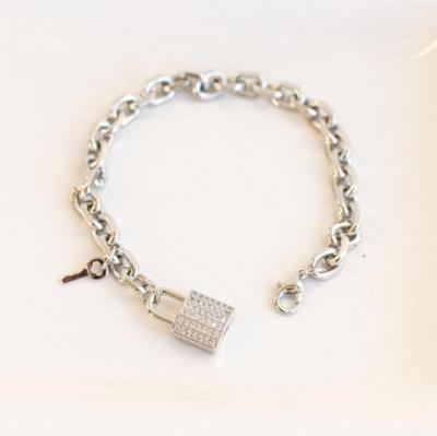 London lock bracelet silver