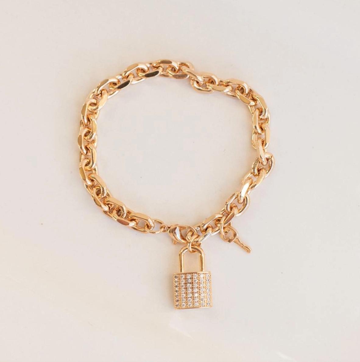 London lock bracelet gold