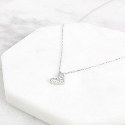 Ariana heart necklace silver