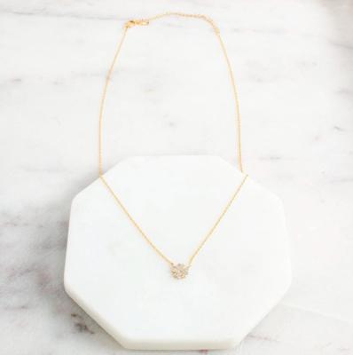 Four leaf clover necklace gold