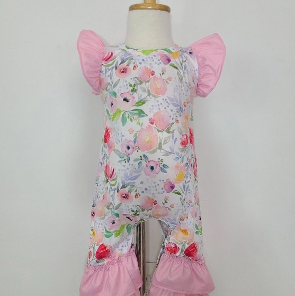 Baby romper pink blossom 6-12 months