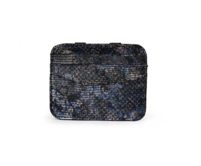 Magic wallet black blue metallic