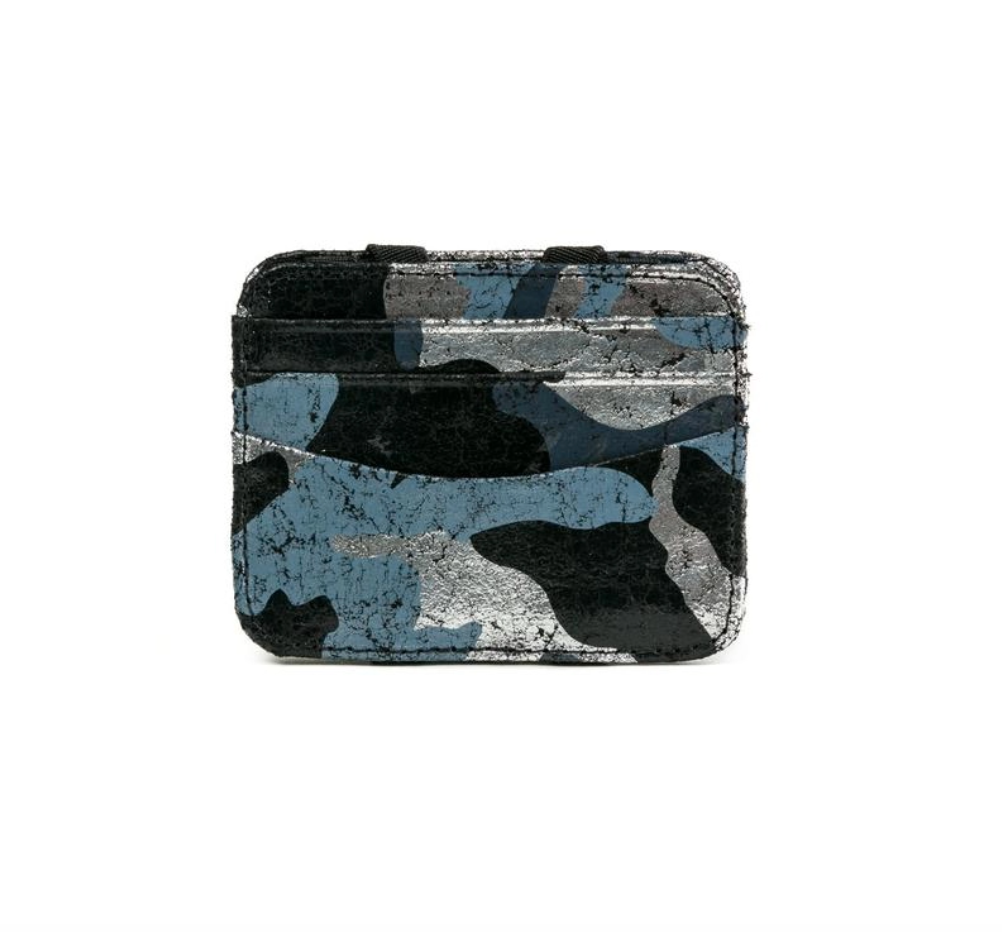 Magic wallet black silver camouflage