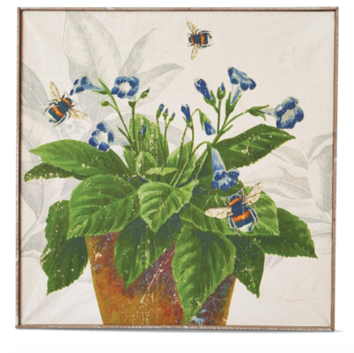 Bee violet wall art