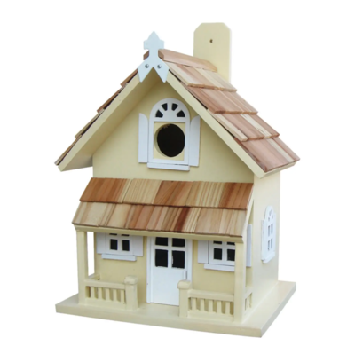 Bird house victorian cottage yellow