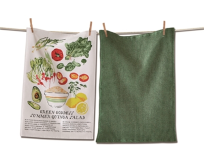 Salad dish towel set green goddess