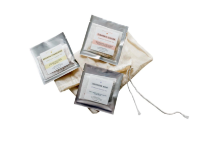 Herbal wellness tea set