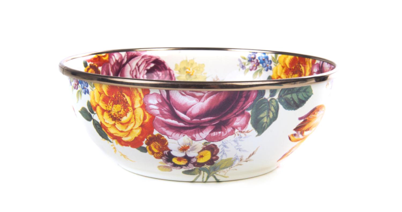 Flower market everyday bowl white