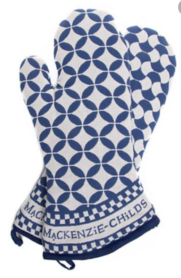Geo oven mitts royal set of 2