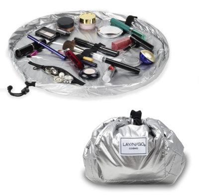 Lay-n-go cosmo silver metallic make-up case