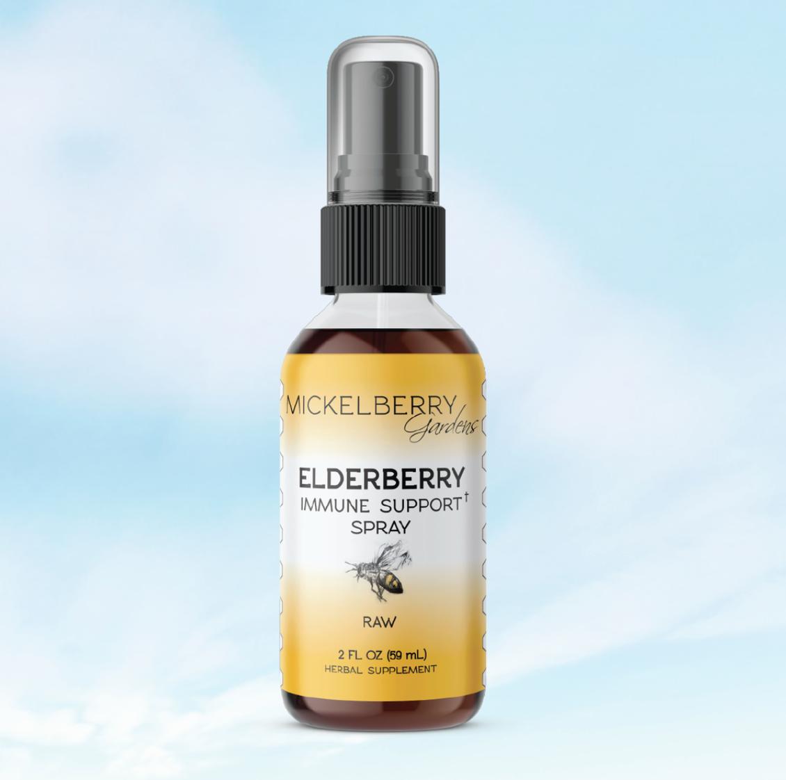 Honey spray elderberry herbal