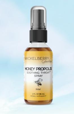 Honey propolis throat spray