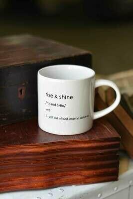 Morning Pour Mug Rise & Shine