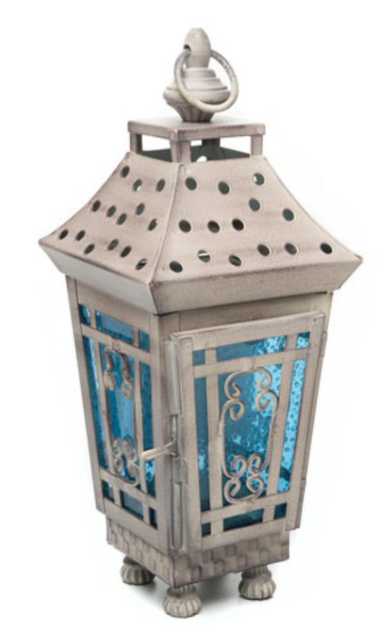 Garden votive lantern small