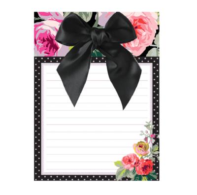 Bow pad grace black floral