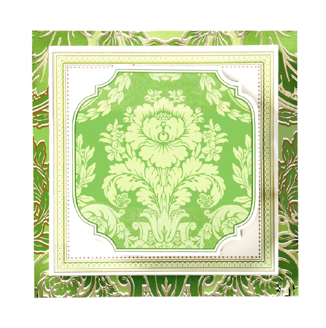 Triple pad green