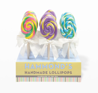 Easter egg lollipop cotton candy