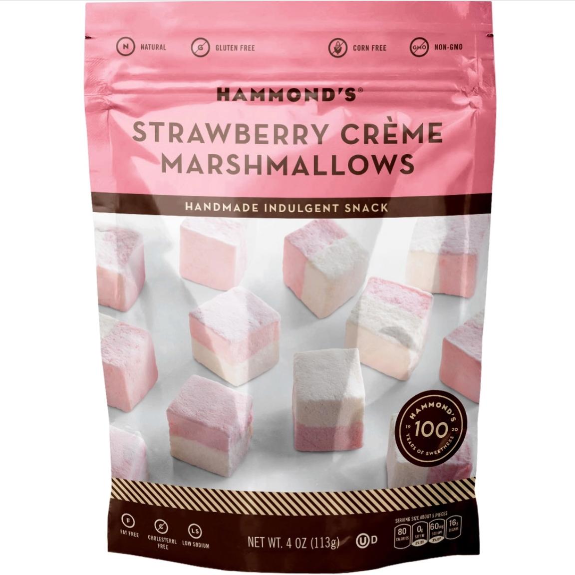 Handmade marshmallows strawberry creme