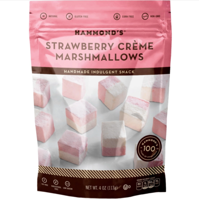 Handmade marshmallows strawberry creme