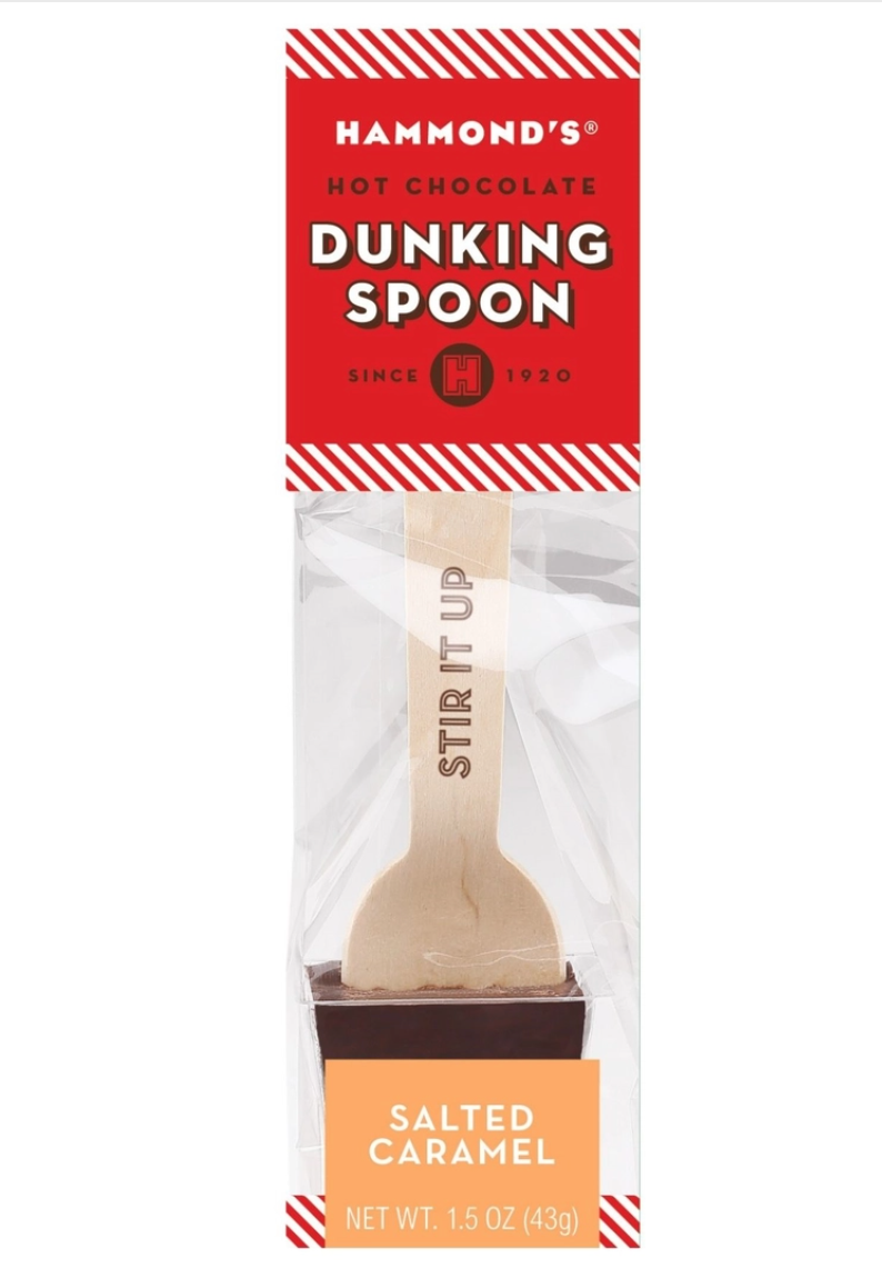Dunking spoon salted caramel